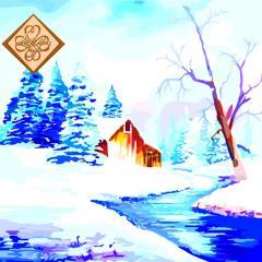 Салфетка ТМ Luxy 33х33, Зимний этюд