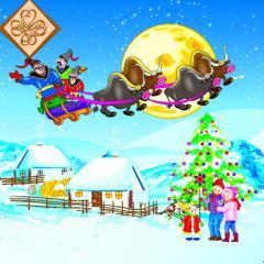 Салфетка ТМ Luxy 33х33, Казацкое рождество