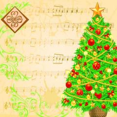 Салфетка ТМ Luxy 33х33, Музыкальное рождество