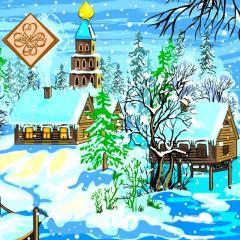 Салфетка ТМ Luxy 33х33, Накануне Рождества