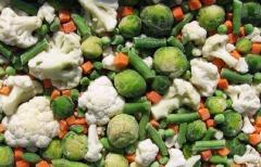 Овощные и фруктовые смеси замороженные