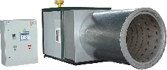 The heatgenerator air-gas high-temperature with