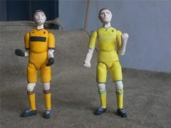 Авторская шарнирная кукла-футболист (сувенир Евро