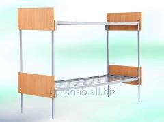 Кровать металлическая со спинками ДСП(044-2296440)