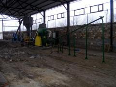 Линии для производства топливных брикетов (Отходы древесины диаметром до 160 мм до 35%) 500 кг/час