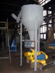 Линия для производства топливных брикетов (Отходы древесины диаметром до 60 мм, до 75%) 1000-1200 кг/час