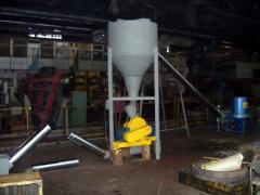 Линия для производства топливных брикетов (Древесные опилки, щепа фракцией до 25 мм, до 35%) 500 кг/час