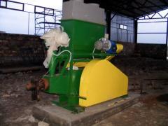 Линия для производства топливных брикетов (Древесные опилки, щепа фракцией до 25 мм, до 75%) 1000-1200 кг/час