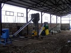 Линия для производства топливных гранул (пеллет) (Солома, камыш, до 35%) 1100-1300 кг/час