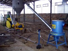 Линия для производства топливных гранул (пеллет) (Лузга подсолнечника, до 35%) 1200-1400 кг/час