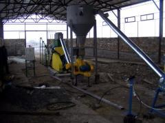 Линия для производства топливных гранул (пеллет) (Отходы древесины диаметром до 160 мм, до 75%) 1100-1300 кг/час