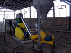 Линия для производства топливных гранул (пеллет) (Отходы древесины диаметром до 60 мм, до 35%) 1100-1300 кг/час