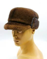 Норкова хутряна шапка - зимова чоловіча кепка