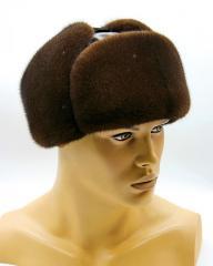"Мужская меховая шапка ушанка ""Молодежка"""