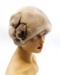 """Женская норковая шапка """"Шарик c"""