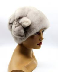 "Winter hat mink ""ball with a"