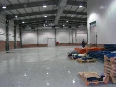 Polymeric coverings, covering floors polymeric