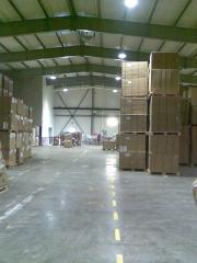 Floors in a warehouse