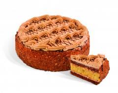"""עוגת """"מפתח הקסם"""" ספוג עם קרם """"טופי"""". משקל: 0.55; 1.1 ק""""ג."""