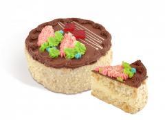 """Bolo """"Kiev novo"""" de bolos suave ar-porca, com abundância de avelãs, creme de baunilha colada por creme de manteiga e cacau. 500g de peso; 800g."""
