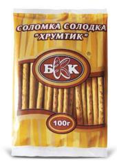 "Straw doce ""Hrustik"". Peso - 4 kg, o tempo de armazenamento -. 6 meses. GOST."