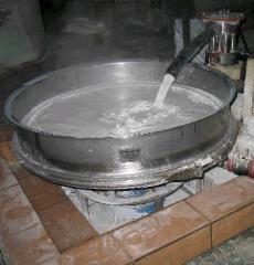 Vibrosieve round for glaze enrichment