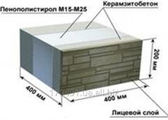The construction heatblock with exterior finish