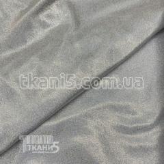 Ткань Лазер голограмма (серебро на белом)