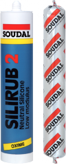 Герметик нейтральный SILIRUB 2 серый 600мл