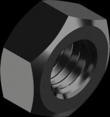 Гайка шестигранная, с мелким шагом резьбы