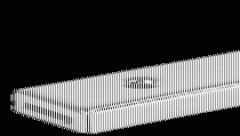 Мебельная задвижка с плоским ригелем 70/11,5 мм