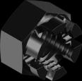 Гайка корончатая М16 10 БП DIN935