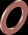 Кольцо уплотнительное DIN7603A 10 D18 s1,5 Cu