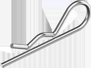 Шплинт 2, 5(2мм) пруж цб (din11024)