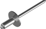 Заклёпка с увеличенной полукруглой головкой