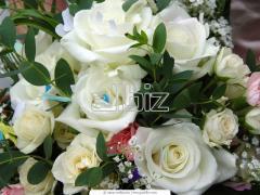 Композиции цветочные для свадебного стола