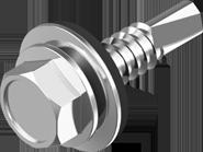 Винт самосверлящий (TEX) + шайба EPDM (для металла)
