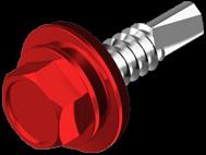 Винт самосверлящий (TEX) + шайба EPDM, окрашенный RAL (для металла)