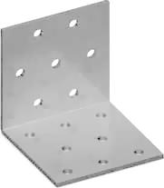 Пластина угловая равнополочная перфорированная