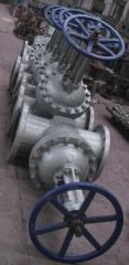 Задвижка клиновая30с...нжРУ160, DN 125. Управление:штурвал,ручнойредуктор,электропривод,пневмопривод