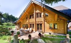 Casas de troncos cilindrados