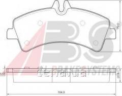 Тормозные колодки задние (спарка) Mercedes Sprinter (Мерседес Спринтер) 510 Дизель 2009 -  (37554)