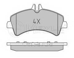 Тормозные колодки задние (спарка) Mercedes Sprinter (Мерседес Спринтер) 509 Дизель 2006 -  (0252921720)