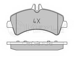 Тормозные колодки задние (спарка) Mercedes Sprinter (Мерседес Спринтер) 510 Дизель 2009 -  (0252921720)