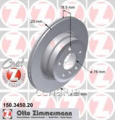 Тормозной диск задний BMW X6 xDrive Дизель 2008 -  (150345020)