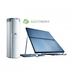 Солнечная установка Vaillant auroSTEP plus 2.250 HT на наклонную крышу водонагреватель 250 л
