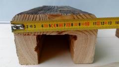 Балка из сосны состаренная 110*80 мм