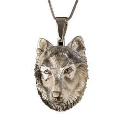 """Silver pendent """"Wolf"""
