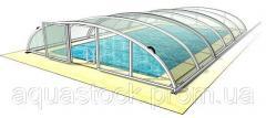 Раздвижной павильон. Модель Abris для бассейна 10,6 х 4,25 м