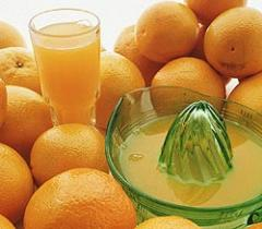 Concentrate of orange juice: Dried concentrate of